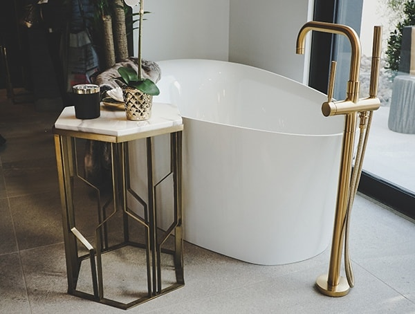 Freestanding Bath Tub With Bronze Filler 2019 New American Home