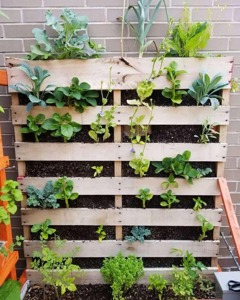 freestanding pallet planter garden ideas samuelsfoodgardens