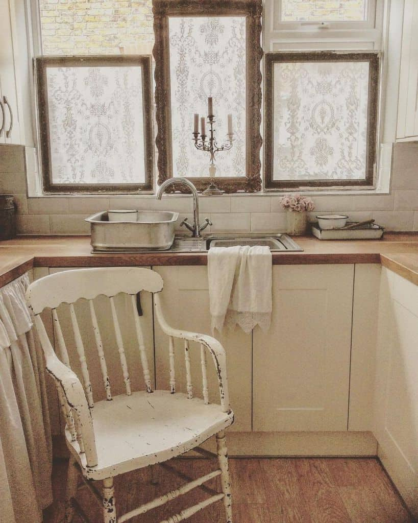 French Country Chic Kitchen Weatheredandwhitevintage