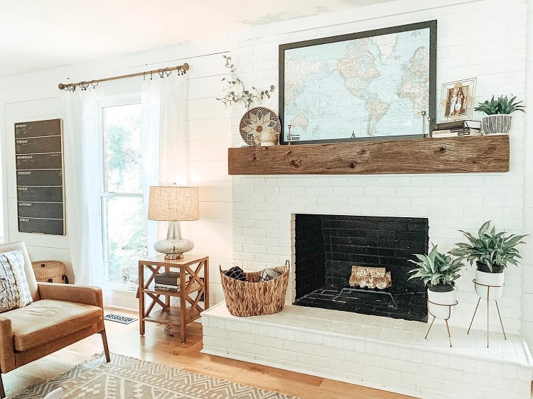Fresh White Shiplap Mantel Decor Ideas Upwardlydependent