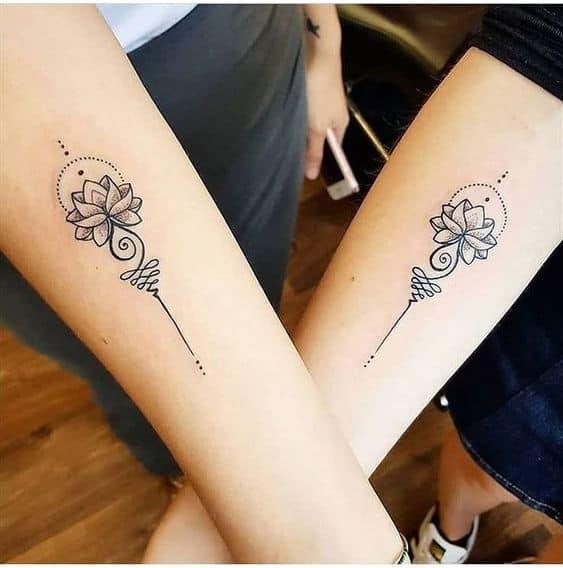 Friends Cute Unalome Tattoo