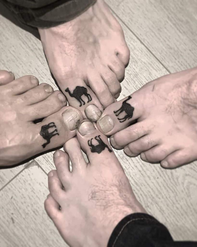 Friendship Toe Camel Tattoo