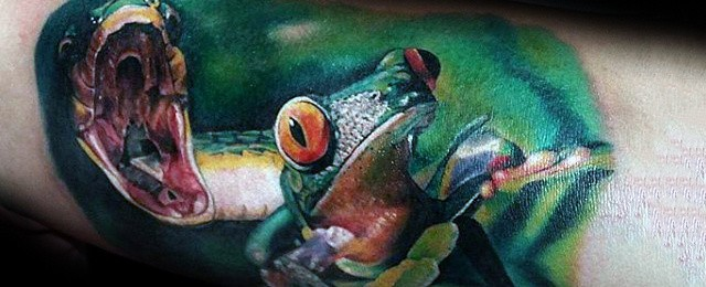 90 Frog Tattoos For Men – Amphibian Design Ideas