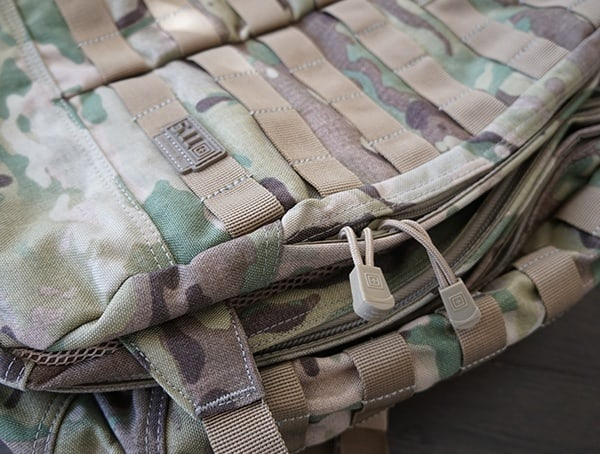 Front Backpack Compartment Ykk Zippers With Molle Panel 5 11 Tactical Rush72 Backpack