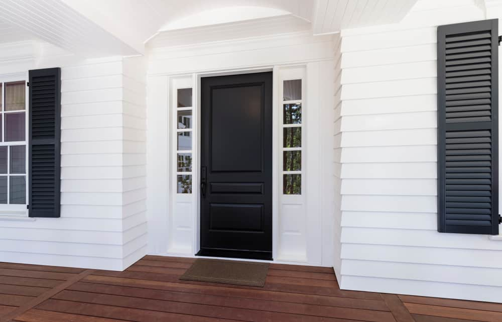 Front Door Modern Farmhouse Exterior 1