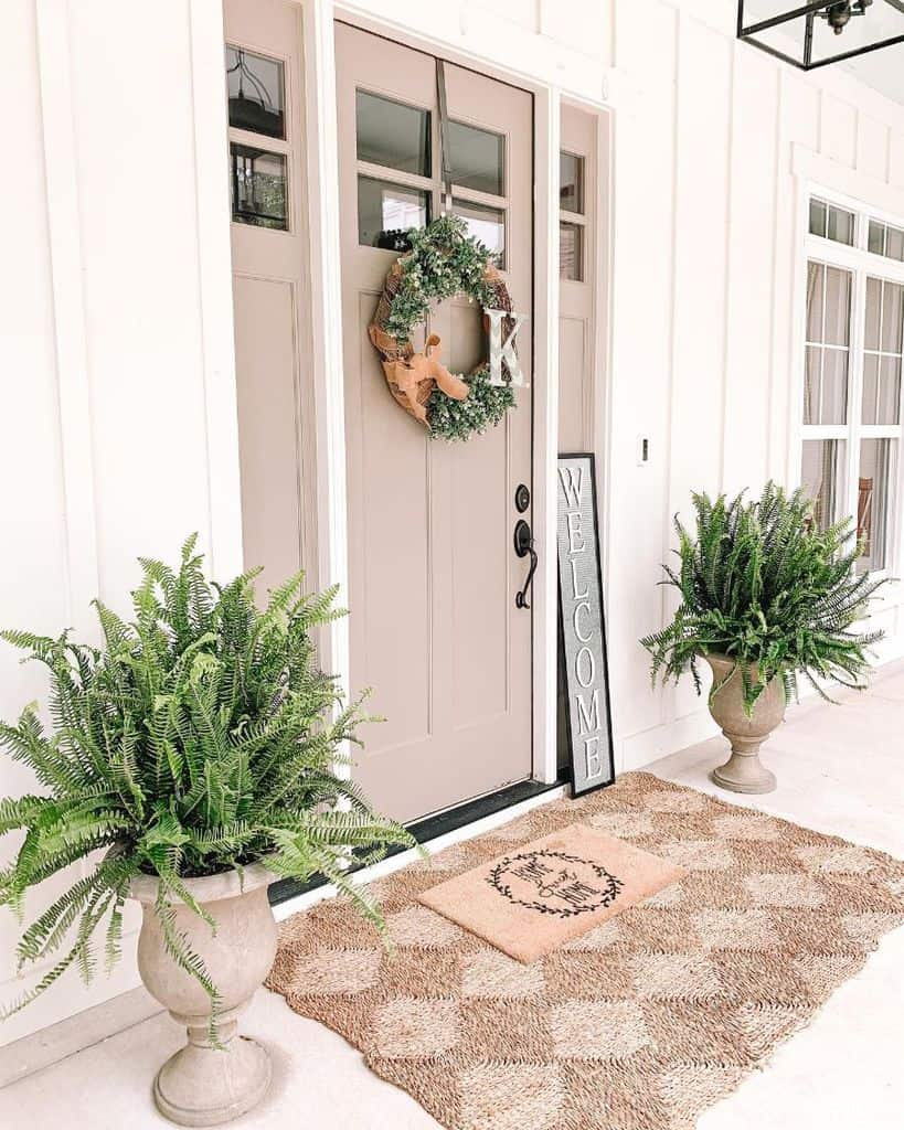 Front Door Modern Farmhouse Exterior Southernsurroundings