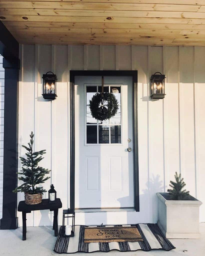 Front Door Modern Farmhouse Exterior Sweetriverdesigns
