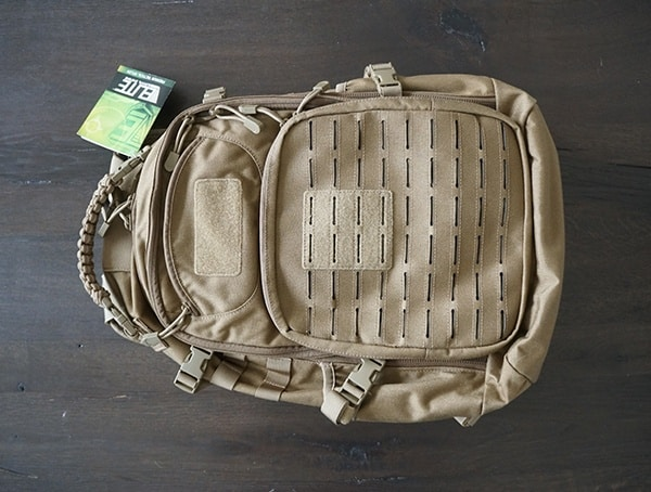 Front Elite Survival Systems Pulse 24 Hour Backpack In Coyote