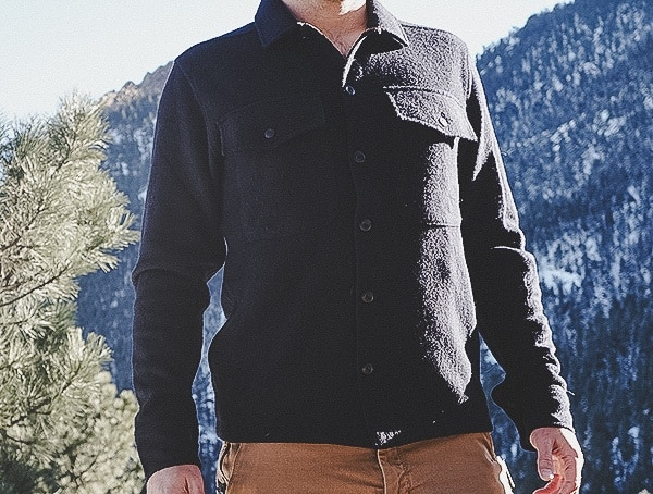 Front Navy Mens Topo Designs Wool Shirt Review