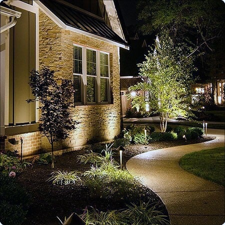 Front Of Home Landscaping Lighting Ideas For Walkway