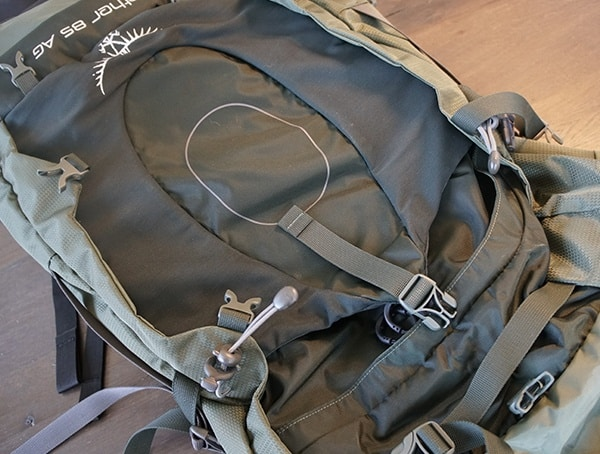 Front Of Pack Storageosprey Aether Ag 85