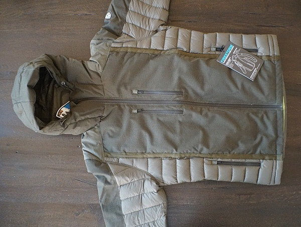 Front Olive Firestorm Down Parka For Men