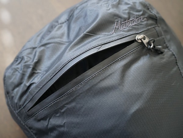 Front Pocket Compartment Matador Freefly16 Backpack With Sealed Seam Zippers