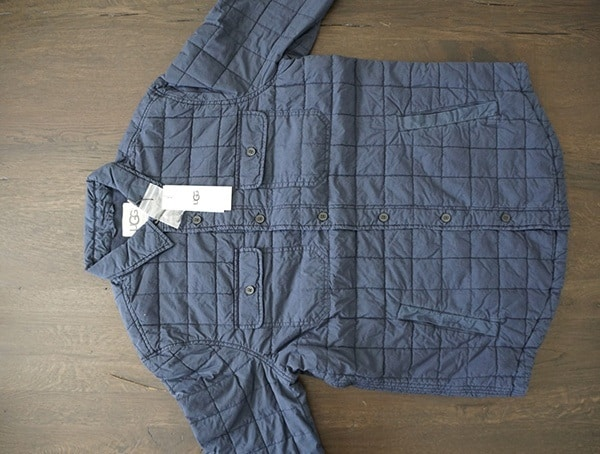 Front Ugg Mens Trent Quilted Shirt Jacket