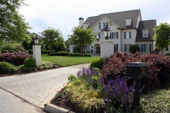Front Yard Designs For Driveway Landscaping