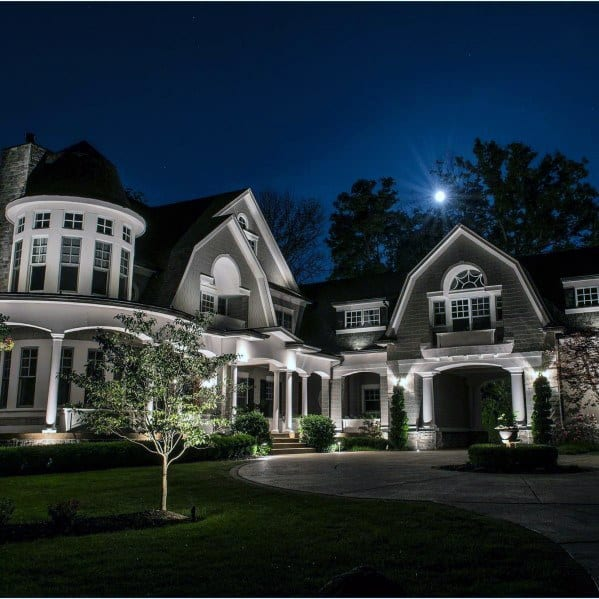 Front Yard Exterior Ideas Landscape Lighting