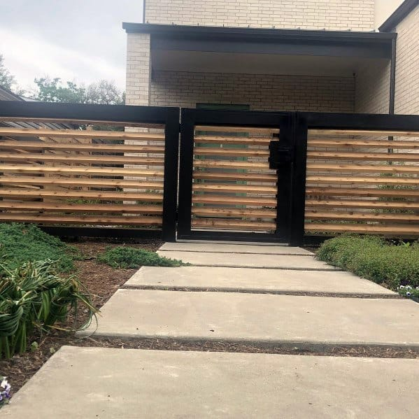 Front Yard Fence Spectacular Ideas Wood And Metal