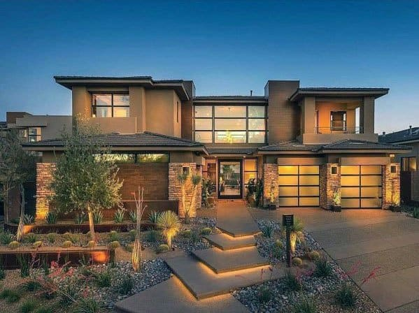 Top 60 Best Driveway Landscaping Ideas - Home Exterior Designs on Luxury Front Yard Landscape id=92574
