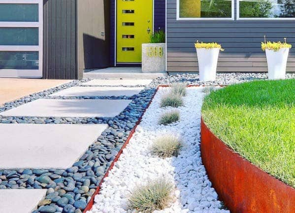 Top 50 Best River Rock Landscaping Ideas Hardscape Designs