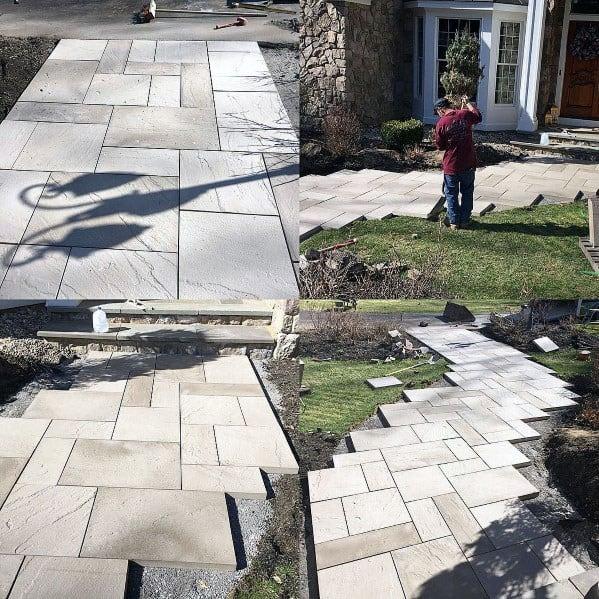 Front Yard Paver Walkway Ideas