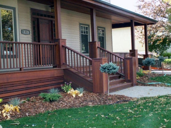 Front Yard Porch Exceptional Deck Skirting Ideas