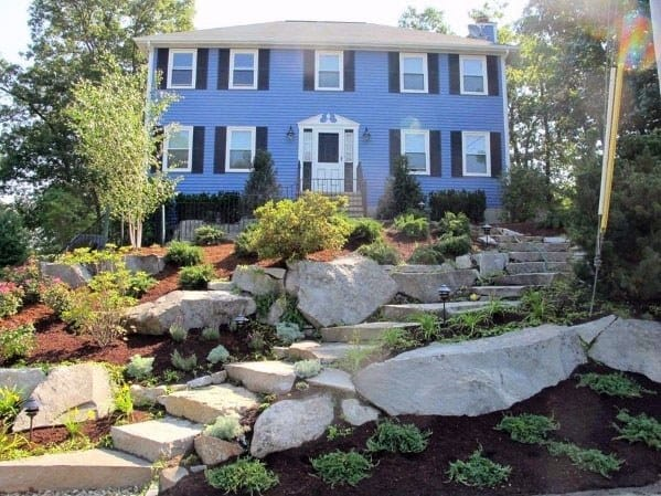 Front Yard Slope Landscaping Design Inspiration