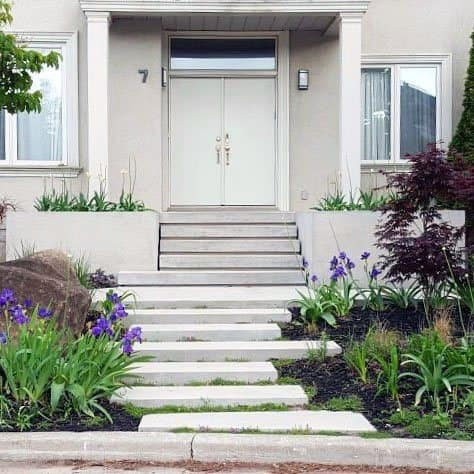 Front Yard Stairs Ideas Stepping Stone