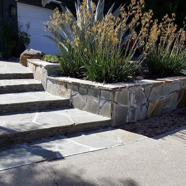 Front Yard Steps Flagstone Walkway Ideas Inspiration