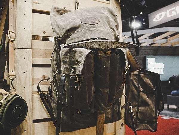 Frost River Mens Waxed Canvas Olive Outdoor Backpack