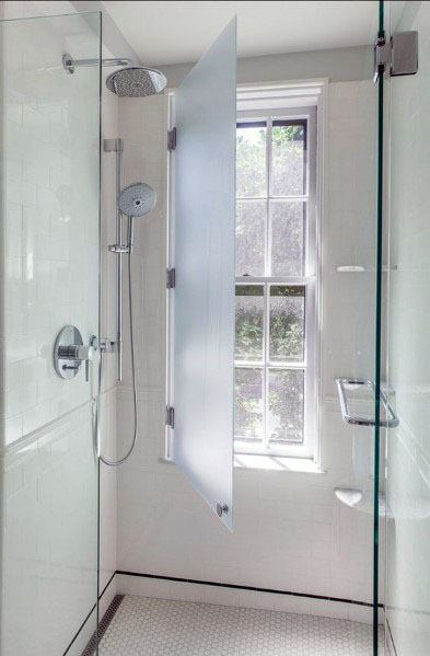 Frosted Glass Privacy Shower Window Ideas