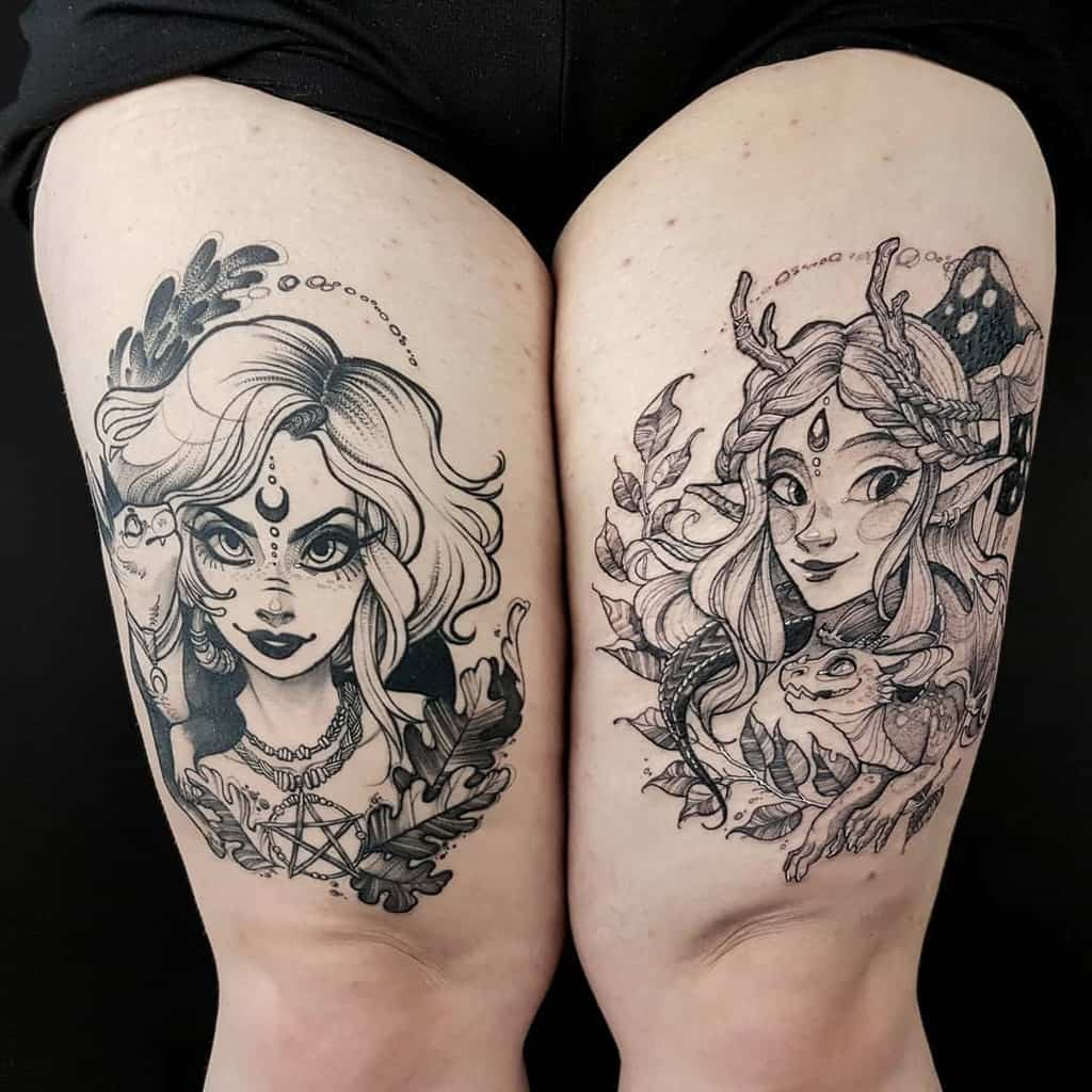 Fuki Ink Witch Fairy Tattoo
