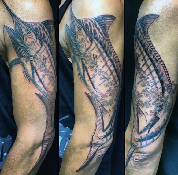Full Arm Fisherman Tattoos