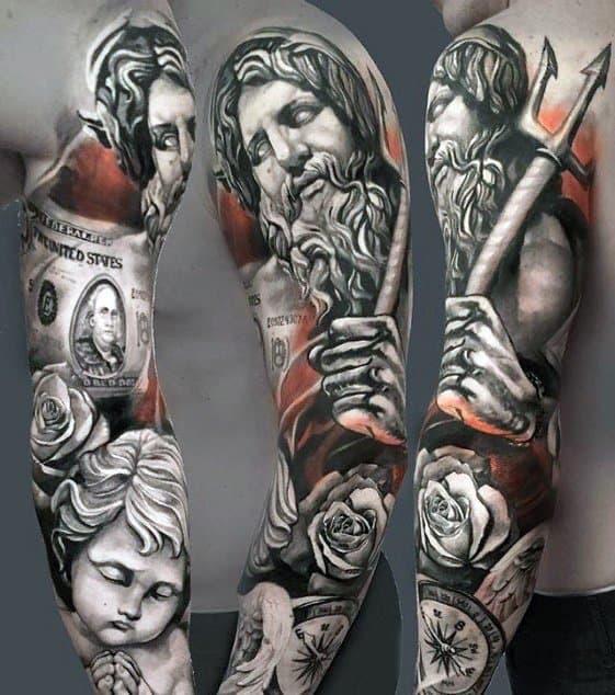 Full Arm Great Guys Tattoo Ideas