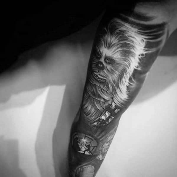 30 Chewbacca Tattoo Designs für Männer - Star Wars Ink Ideas