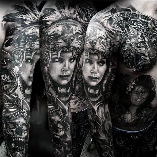Full Arm Sleeve Rad Male Tattoo Designs