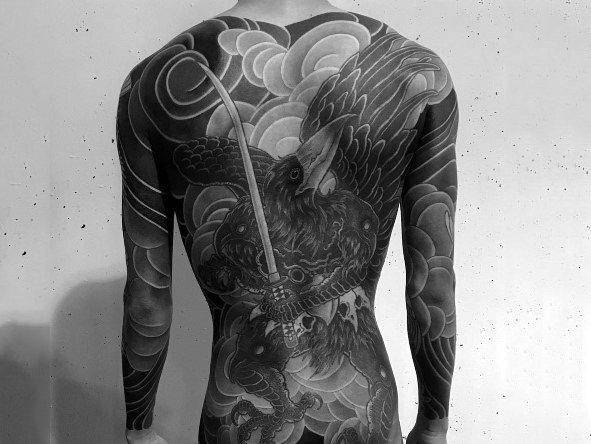 Full Back Amazing Male Japanese Themed Coolest Tattoos
