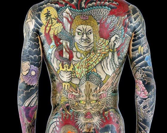 Full Back Amazing Mens Fudo Myoo Japanese Tattoo Designs