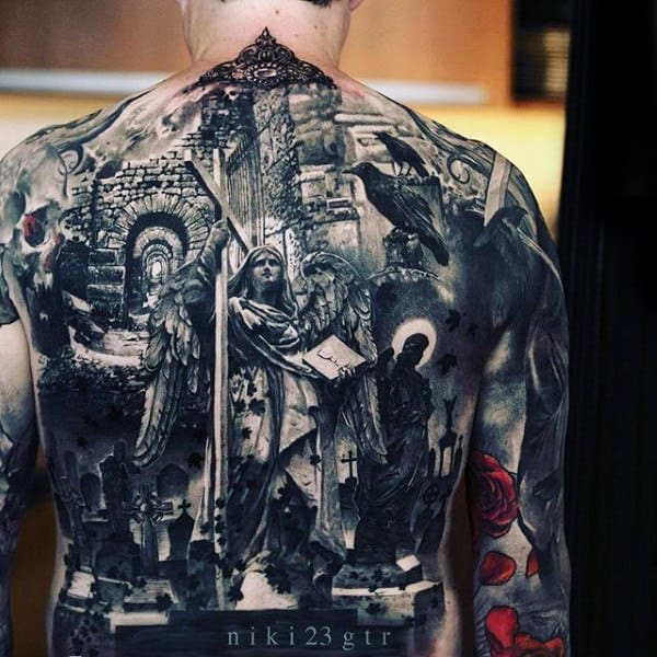 Full Back Badass Male Tattoo Inspiration