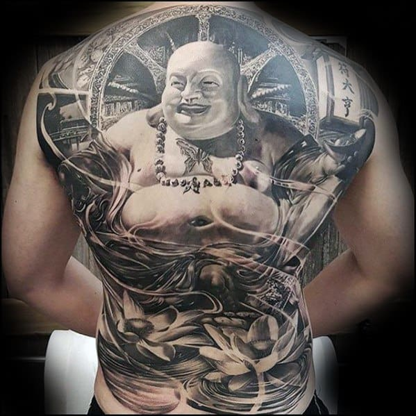 Full Back Buddha Mens Tattoo Rad Design