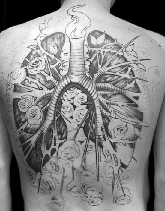 Full Back Incredible Lung Tattoos For Men