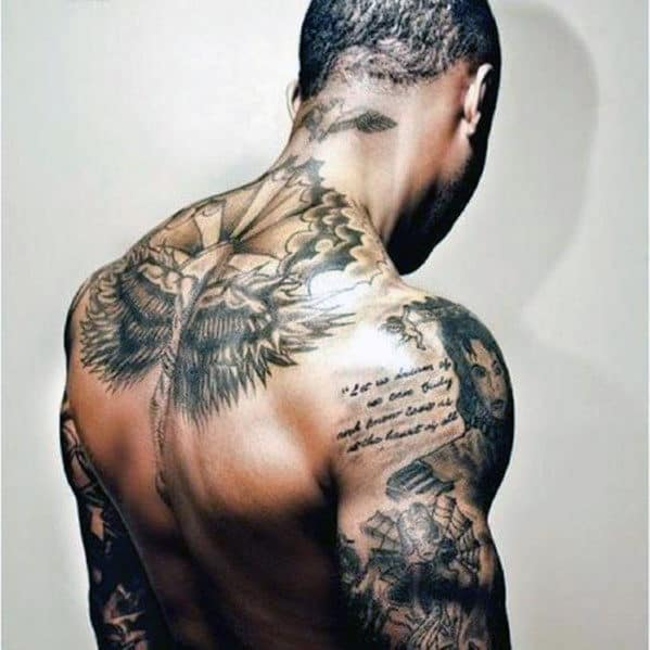Full Back Men's Tattoos