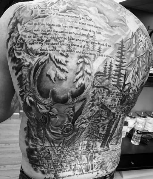 Full Back Quote Bowhunting Mens Tattoos