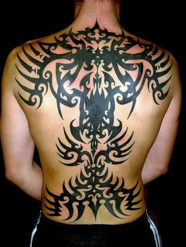 Full Back Tribal Guys Tattoo Inspiration