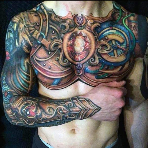 top 90 best armor tattoo designs for men walking fortress. Black Bedroom Furniture Sets. Home Design Ideas