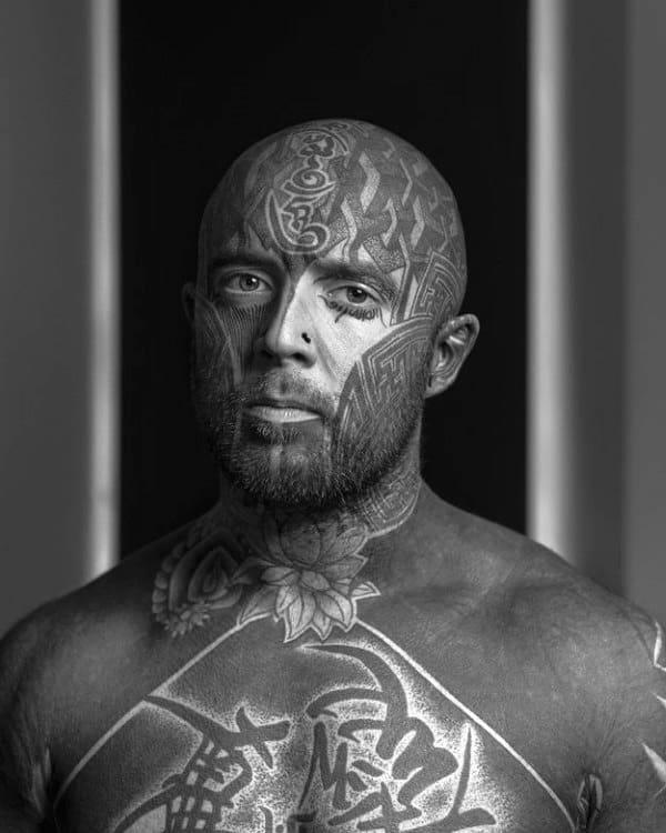 Full Face Mens Tattoo Designs