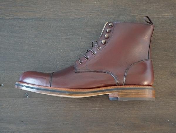 Full Grain Calf Leather Upper Beckett Simonon Dowler Cap Toe Boots For Men