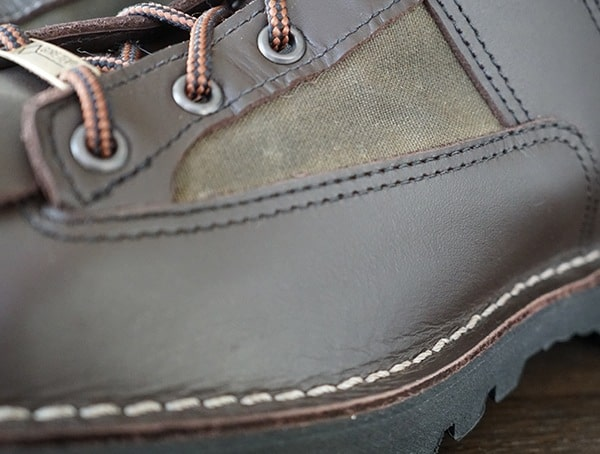 Full Grain Leather With Cotton Oil Finish Tin Cloth Upper Filson X Danner Grouse Boots