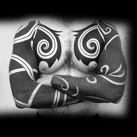 Full Guys Tribal Sleeve Tattoos