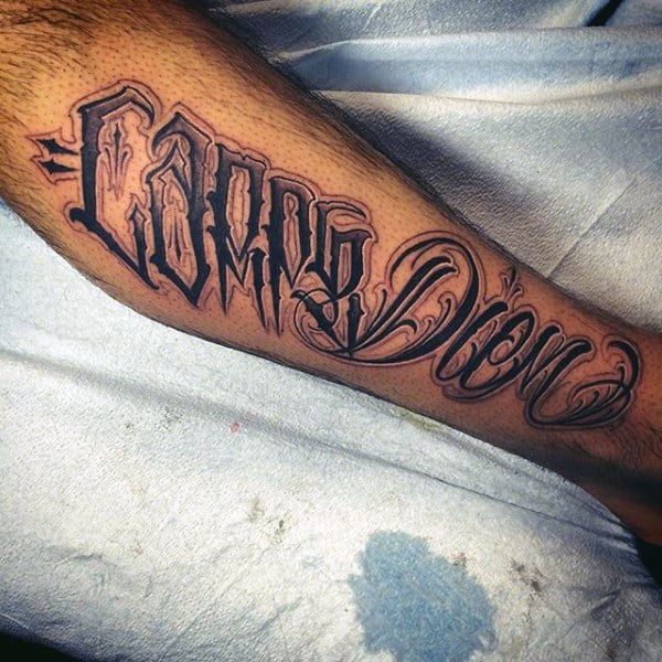 Full Leg Male Carpe Diem Tattoo Ideas
