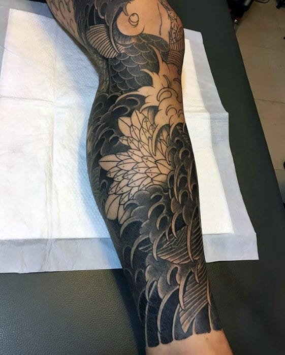 60 Japanese Wave Tattoo Designs For Men
